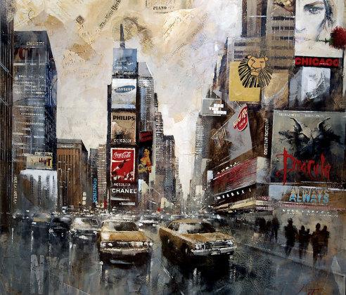 Time Square EL AMOR NUNCA MUERE 100×100