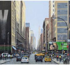 34 St East, New York, óleo, 45 x 70 cm.