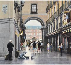 Calle de Postas, Madrid, óleo, 46 x 61 cm.