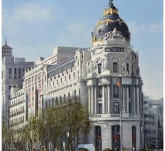 Metrópolis, Madrid, óleo, 65 x 50 cm.