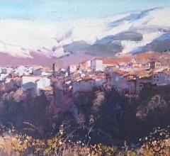 Paisaje-de-Béjar-con-nieve-53,8×17,5cm