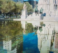 Reflejos-monumento-Cervantes-Madrid-81x60cm