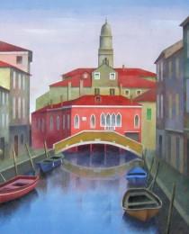 13.Rio Gaffaro, Venecia 50×50 cm