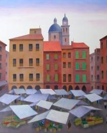 14.Mercado de Chiavari, Italia 50×50 cm