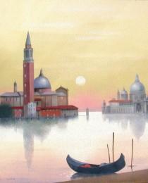 16.San Giorgio y la Salute, Venecia 46×38 cm
