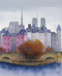 17. La Cité, París 38×46 cm