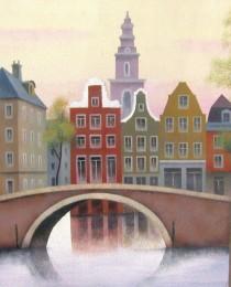 18.Canal de Amsterdam 38×46 cm