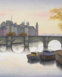 4.La Cité, París 65×81 cm