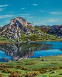 1. El lago Enol 120×50
