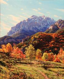 25. El Pedraforca desde Gressolet 46×38