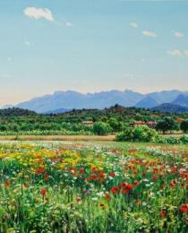 5. Primavera en Horta de San Joan 100×40