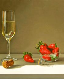 fresas-y-champan-30×40