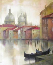 17. El Gran Canal de Venecia 50×50 cm