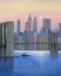 18. New York atardecer 50×50 cm