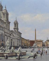 10–Piazza-Navona,-óleo-sobre-tela,-100-x-150-cm