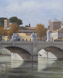 12–Puente-sobre-el-Tiber,-óleo-sobre-tela,-81-x-120-cm