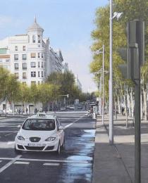 16–Calle-de-Serrano—óleo-sobre-lienzo—-54-x-73-cm