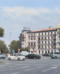 21–Plaza-de-Alonso-Martínez—óleo-sobre-lienzo—-65-x-116-cm